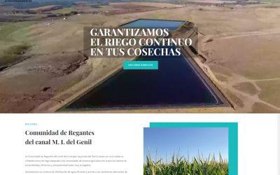 Presentación de la nueva web de la Comunidad de Regantes del canal de la margen izquierda del Genil